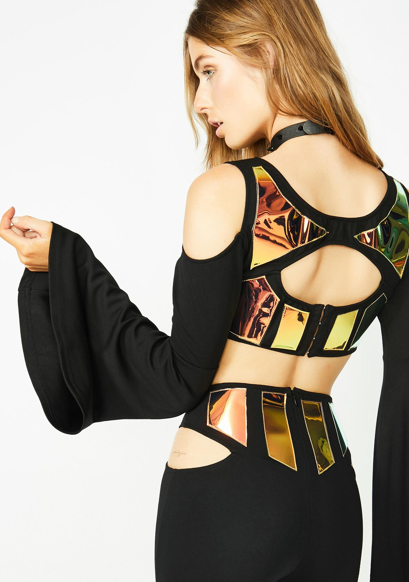 Club Exx Electro Freakquency Crop Top