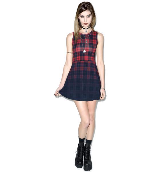 Killstar Tartan Skater Dress