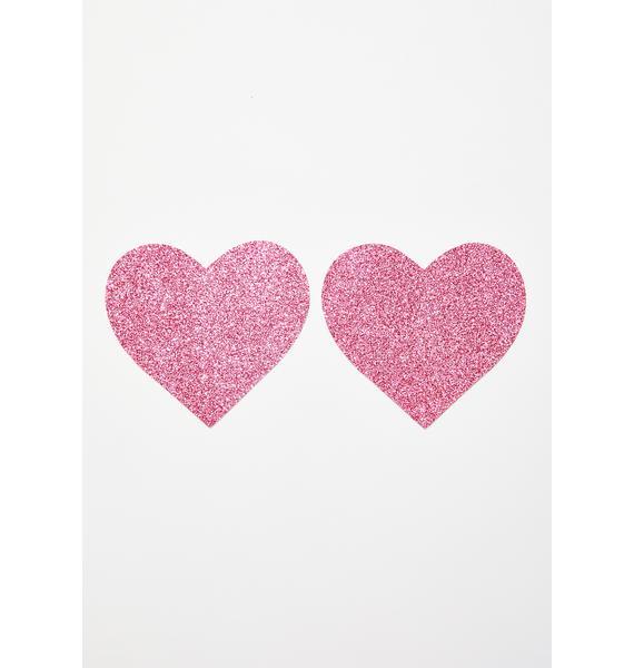 Neva Nude Sparkle Heart Pasties