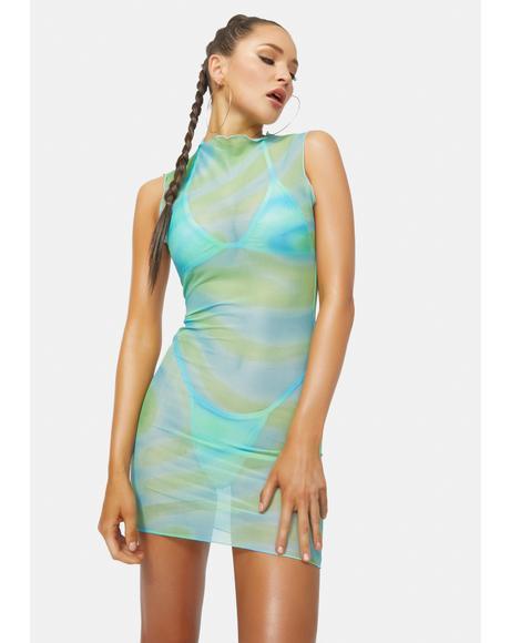 Helena Net Mesh Dress