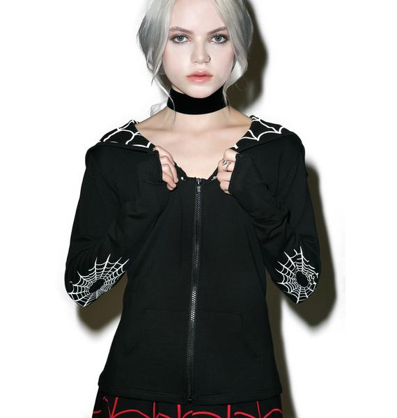 Kreepsville 666 Spiderweb Bat Flap Jacket