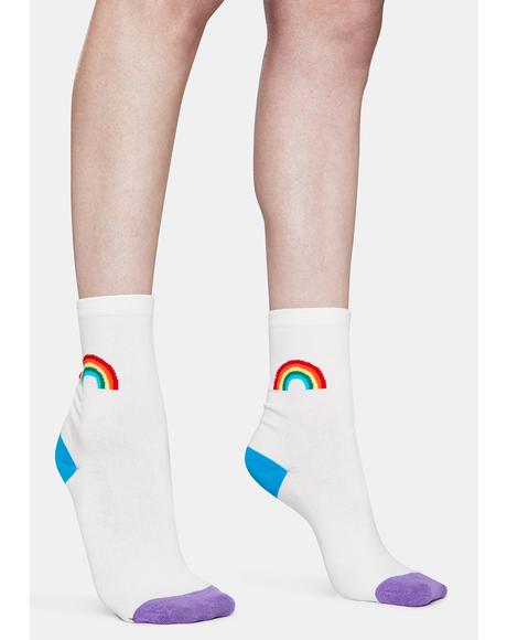 Dash of Rainbow Crew Socks