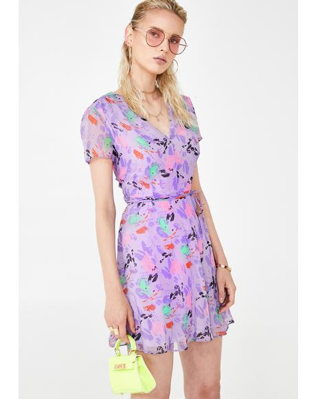 Lilac Fresh Picked Flowers Sundress