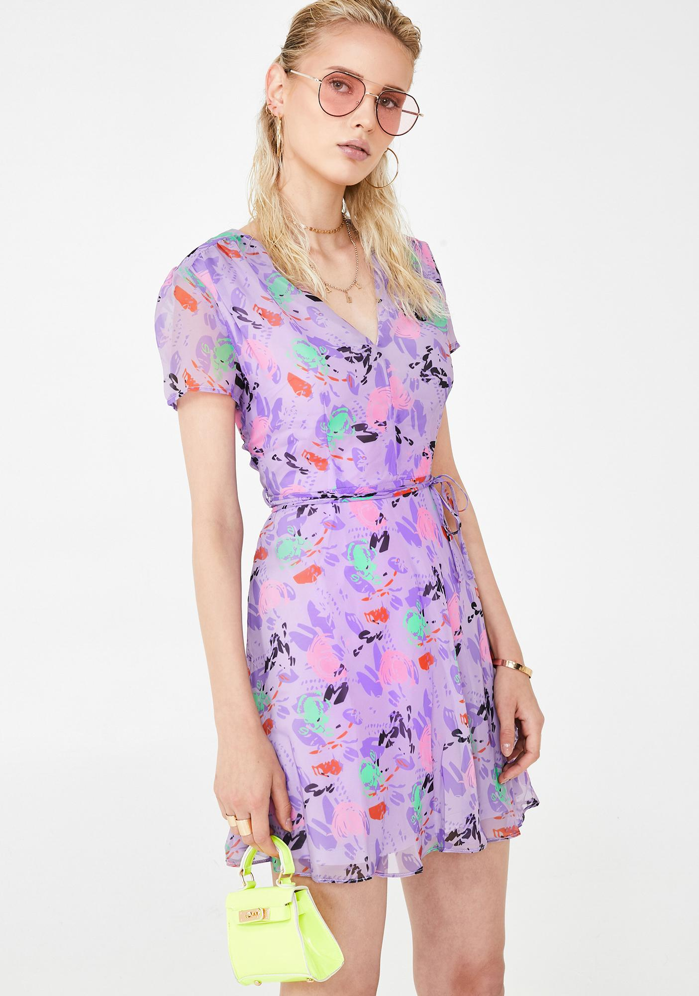 Glamorous Lilac Fresh Picked Flowers Sundress
