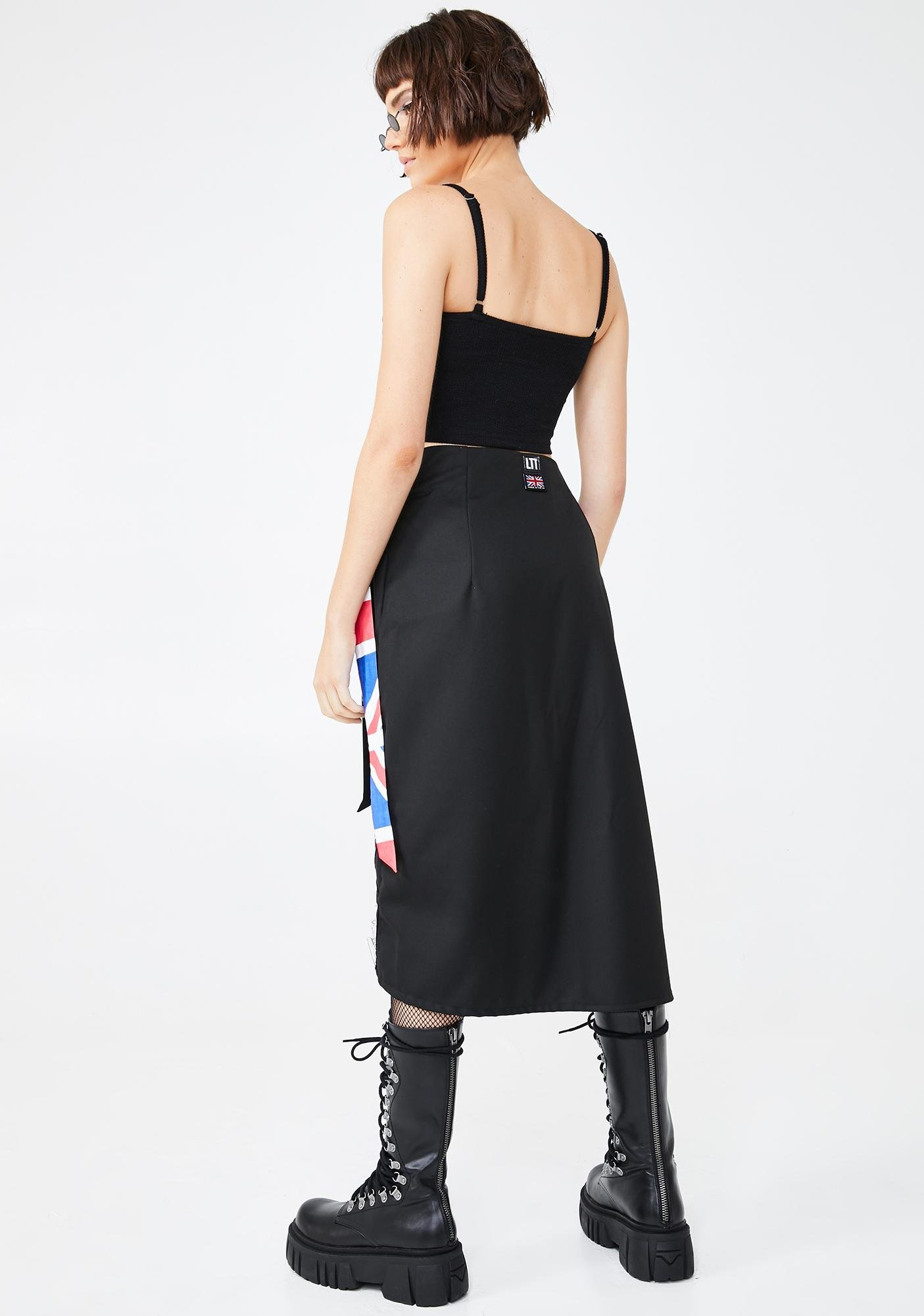 LOVE TOO TRUE The Anarchy Long Wrap Skirt