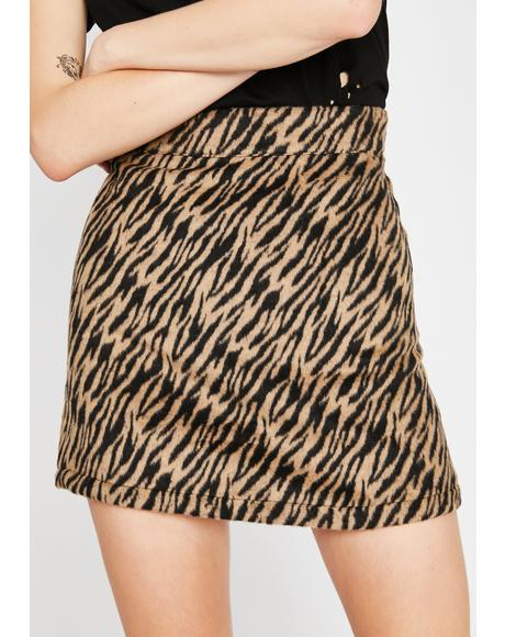 Give 'Em Cattitude Mini Skirt
