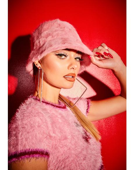Flirty Pop Smash Faux Fur Bucket Hat