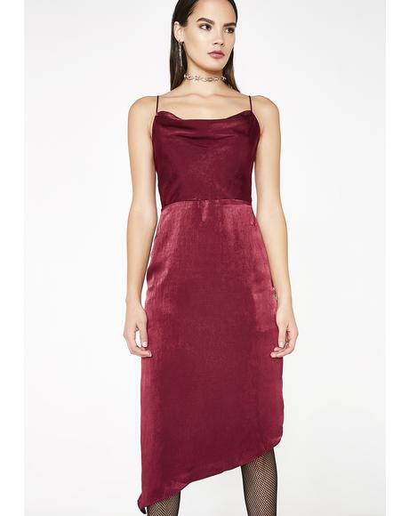 Red Carpet Affair Midi Dress