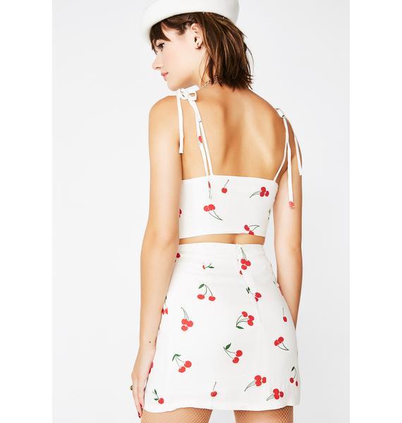 Cherry Picked Skirt Set