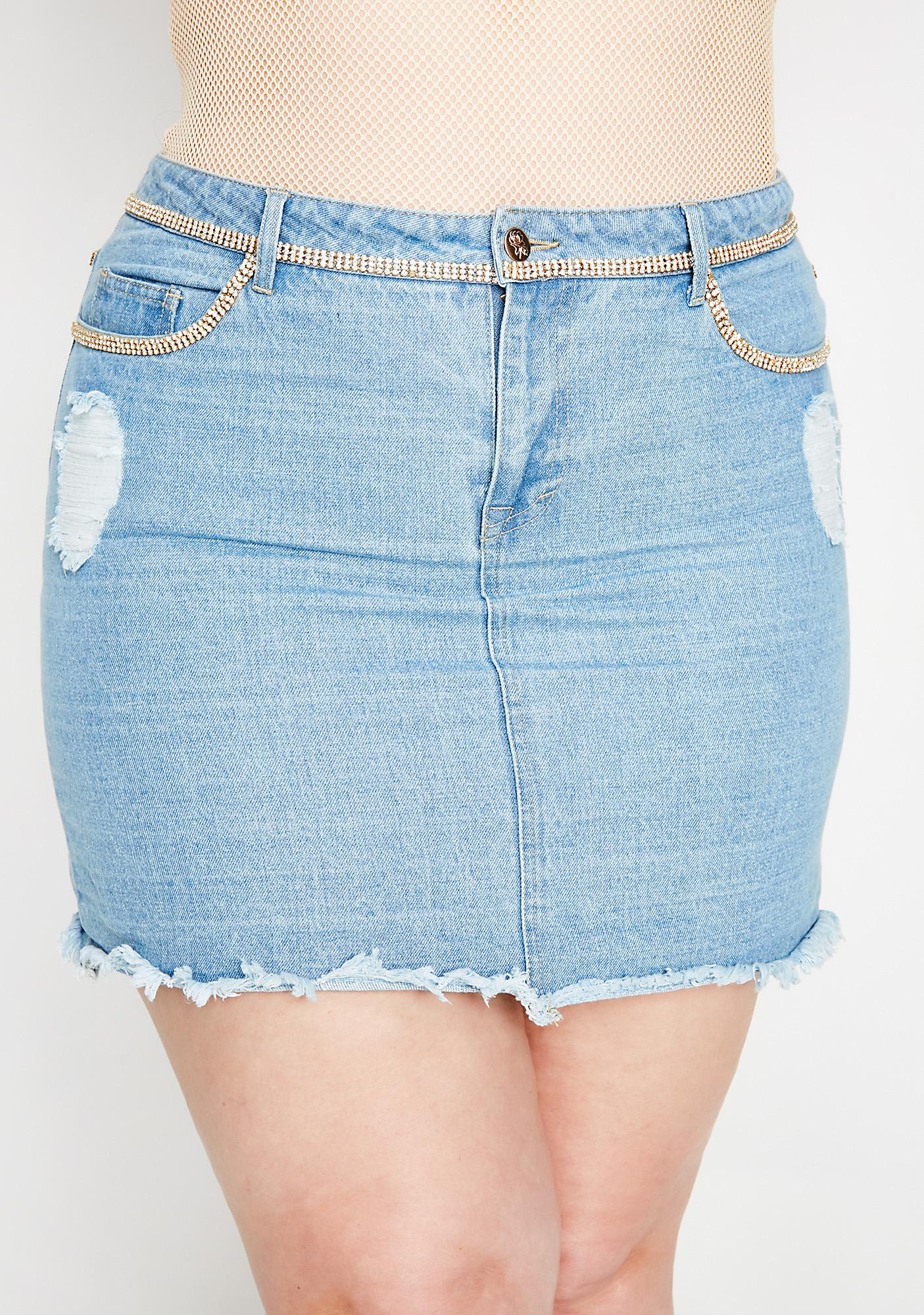 Poster Grl Slay Away Denim Skirt