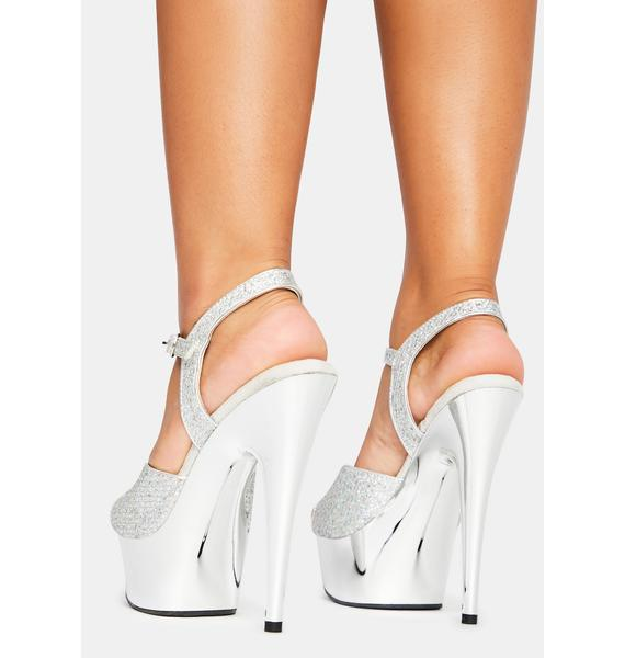 Pleaser Any Excuse Glitter Heels