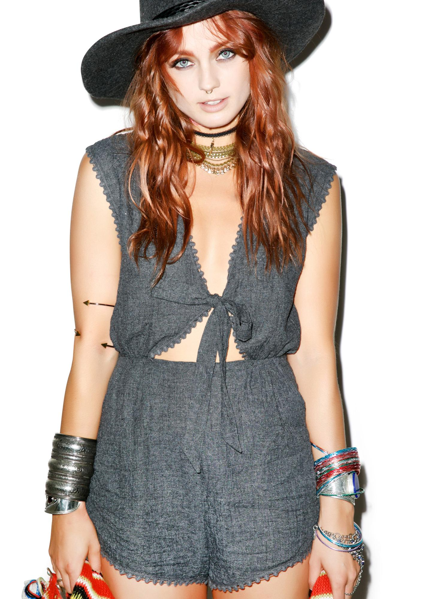 Somedays Lovin Finely Tuned Woven Playsuit