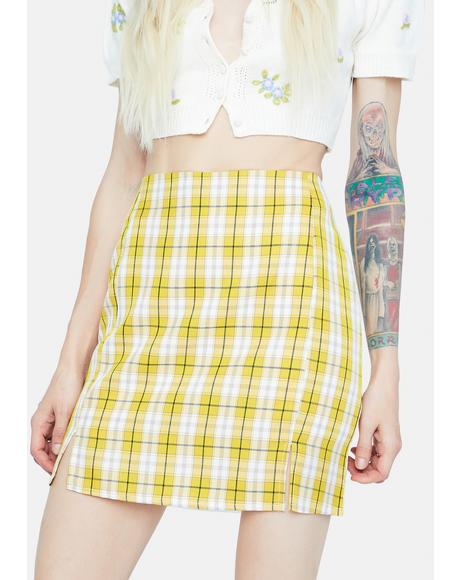 Zesty Playful in Plaid Mini Skirt
