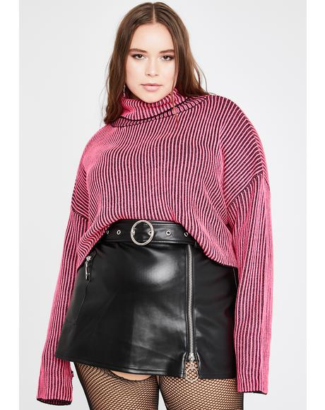 Legit Between The Lines Turtleneck Sweater
