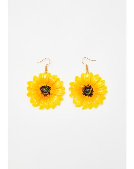Once N' Flor'al Drop Earrings