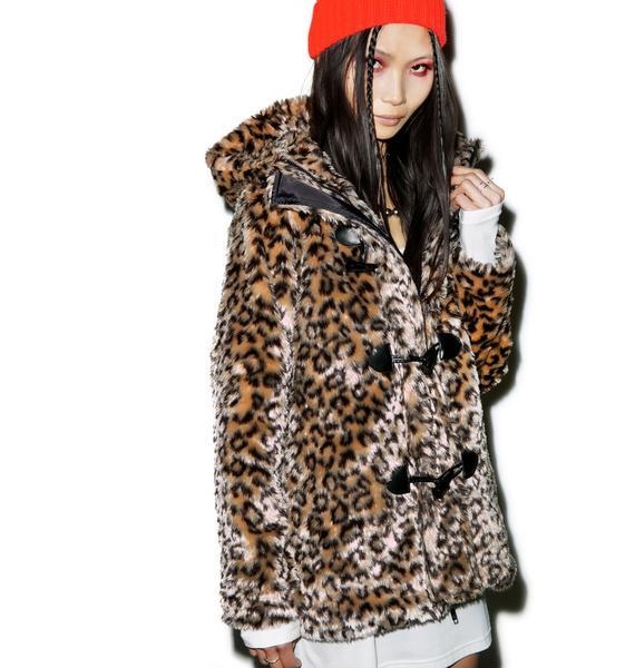 Wild Leopard Cat Hooded Jacket