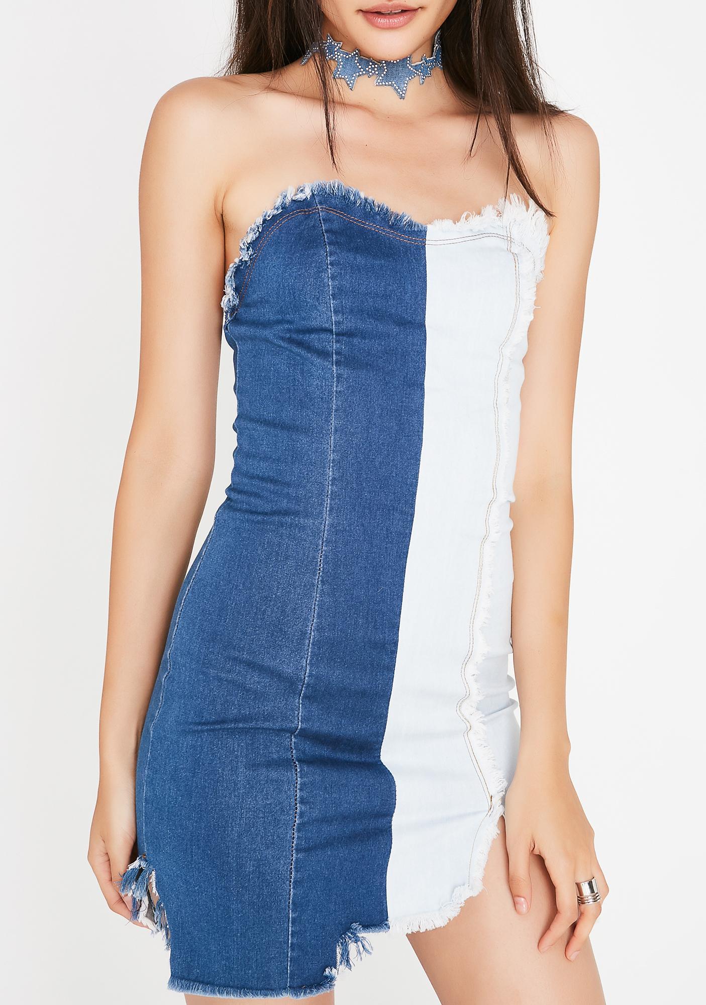 Can't Decide Denim Dress