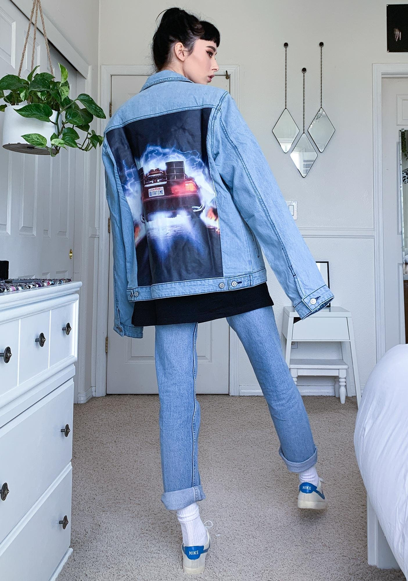 Criminal Damage X Back To The Future Poster Denim Jacket