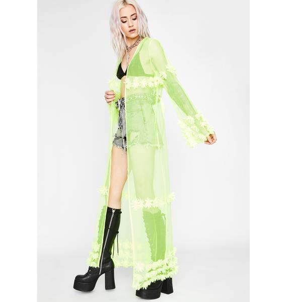 Alien Festival Faerie Sheer Kimono