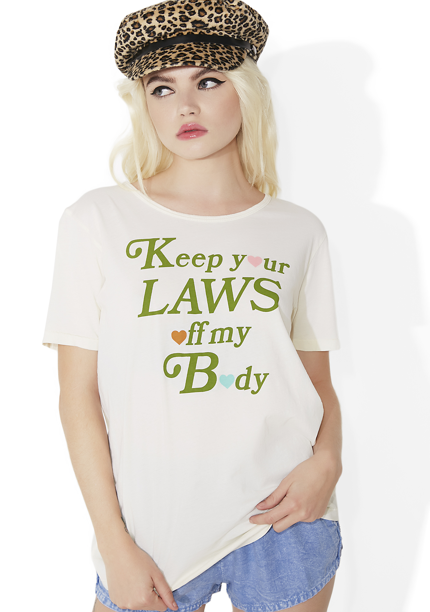 Sugarhigh + Lovestoned Keep Your Laws Off My Body Tee