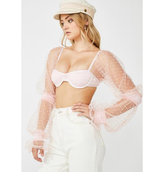 ZYA Baby Pink Lolita Top