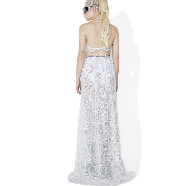 Ice Princess Sequin Open Skirt