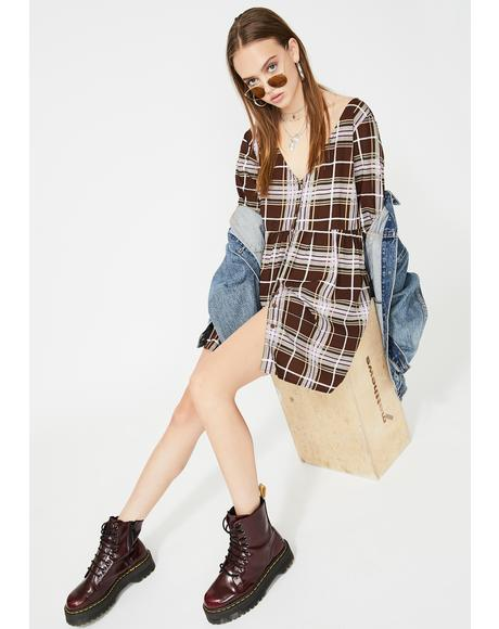 Verren Plaid Dress