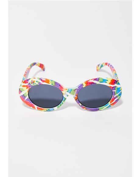 Hippyland Tie Dye Sunglasses
