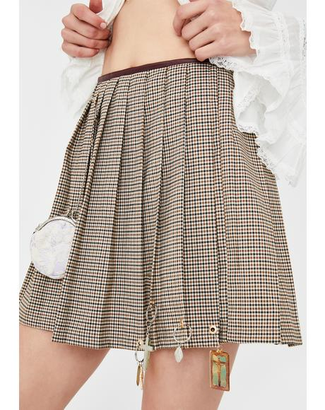 Hanging Bag Pleated Skirt