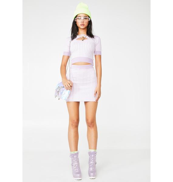 No Dress Houndstooth Knit Skirt