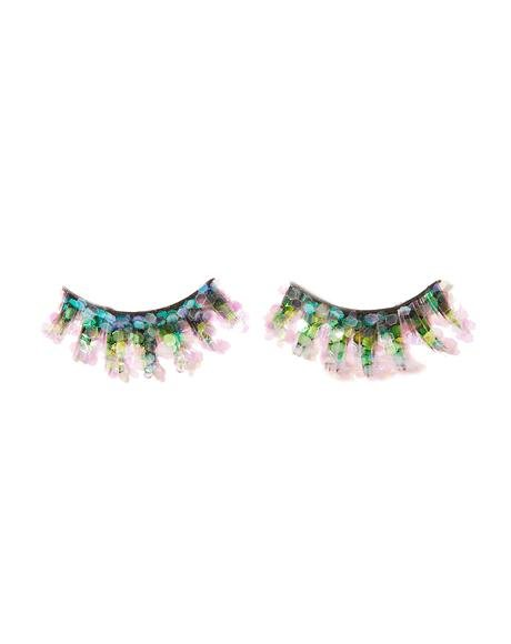Pink Mermaid Glitter Lashes