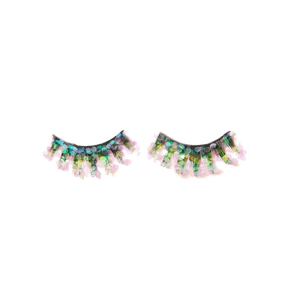 FromNicLove Pink Mermaid Glitter Lashes