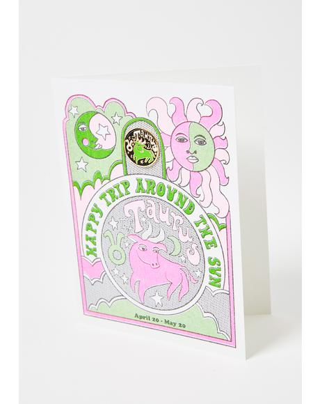Taurus Lapel Pin Card
