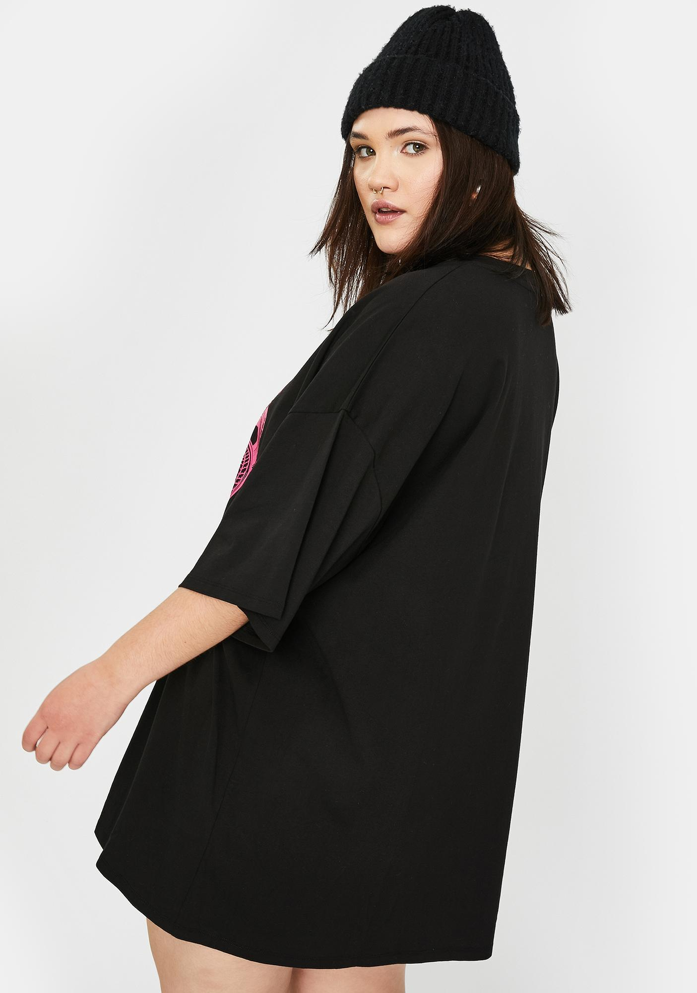 NEW GIRL ORDER Plus Pink Double Cobra T-Shirt Dress