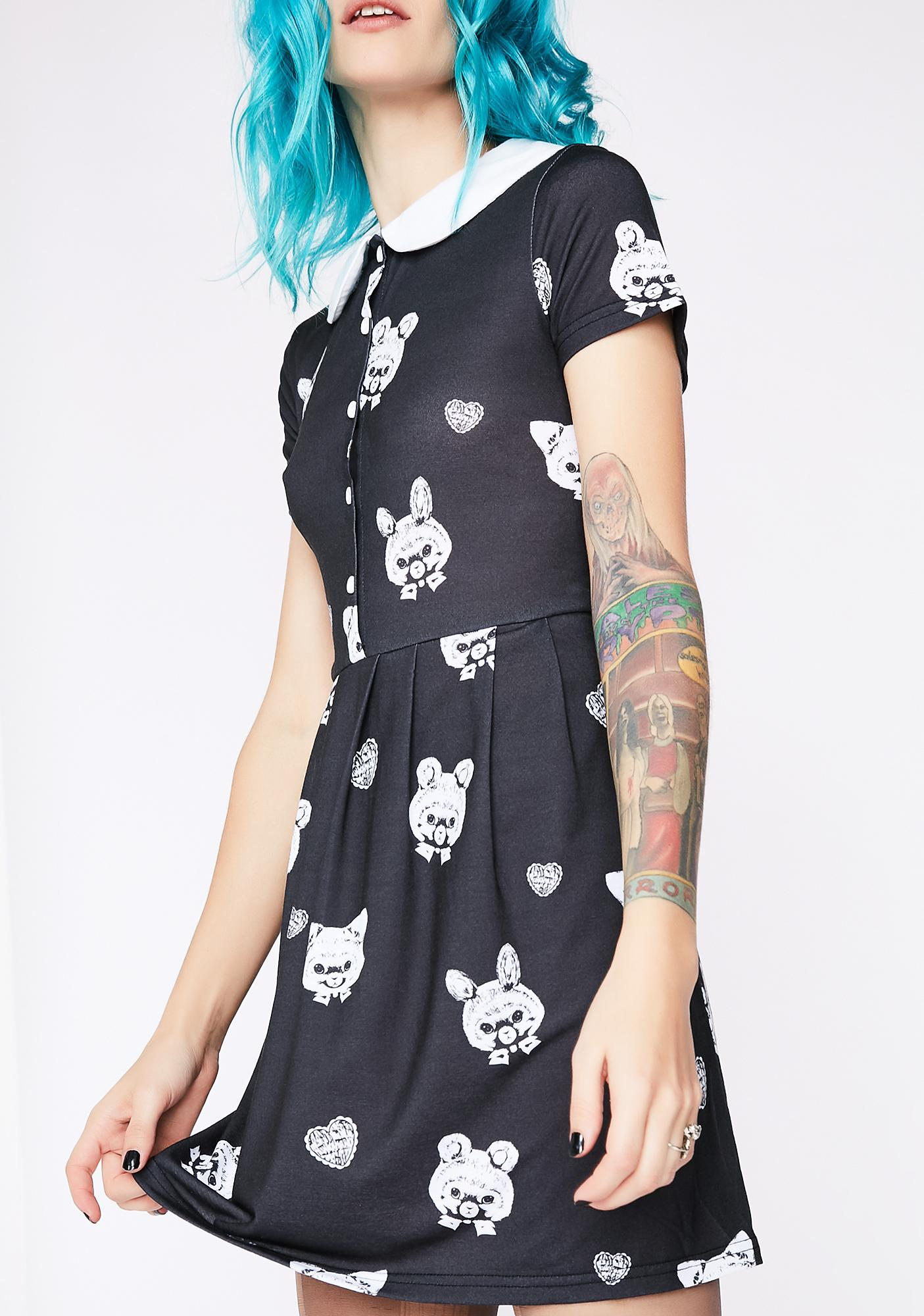 Fearless Illustration Nocturnal Playtime Peter Pan Dress