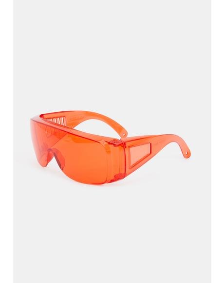 Fire Pass The Test Shield Sunglasses
