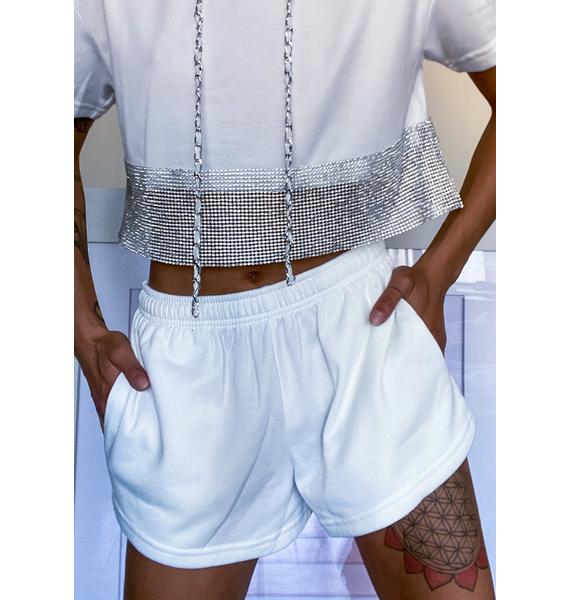 Icy Bold Bling Shorts Set