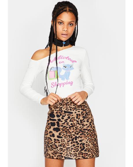 Kiss Me Right Meow Mini Skirt