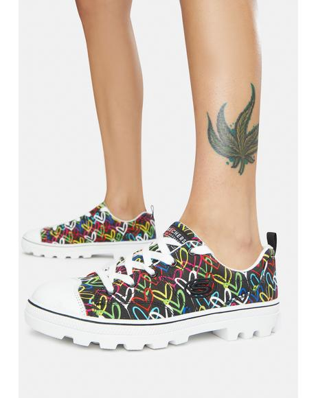 x JGoldcrown Hashtag Love Roadies Sneakers
