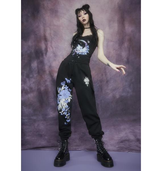 Widow Rare Beauty Floral Print Sweatpants