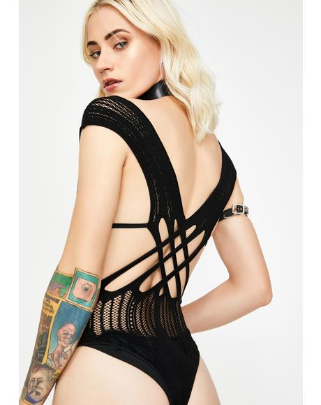 Don't Cross Me Cut Out Bodysuit