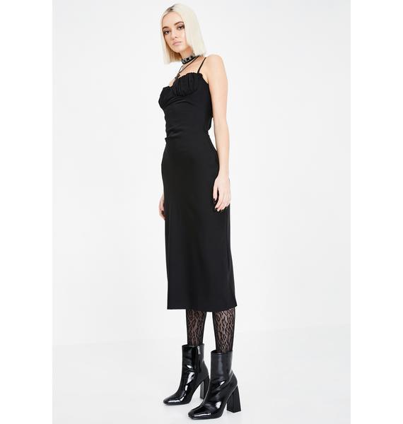 Jagger & Stone Black Christy Bustier Midi Dress