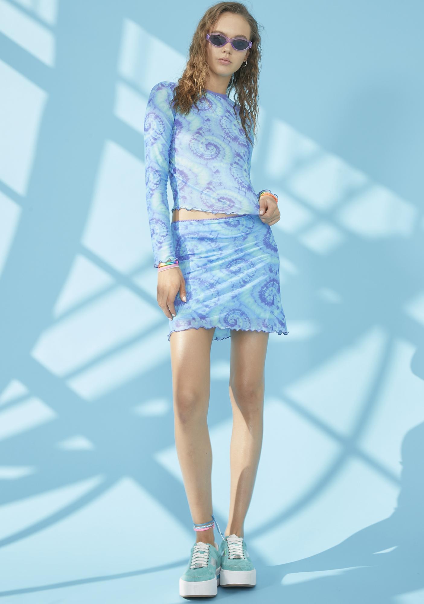 dELiA*s by Dolls Kill Chasin' Mavericks Mesh Skirt