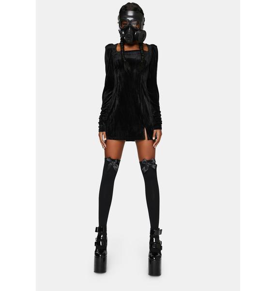 Punk Rave Textured Velvet Square Hip Dress