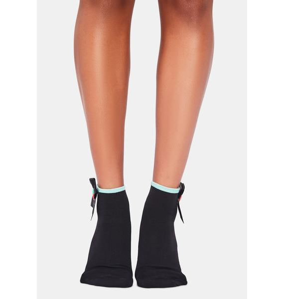 Noir Precious Delight Ankle Socks
