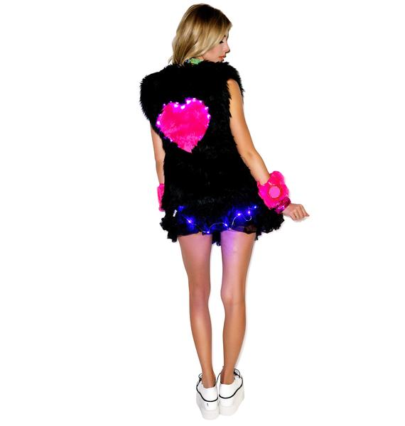 J Valentine Heart Beat Light Up Long vest
