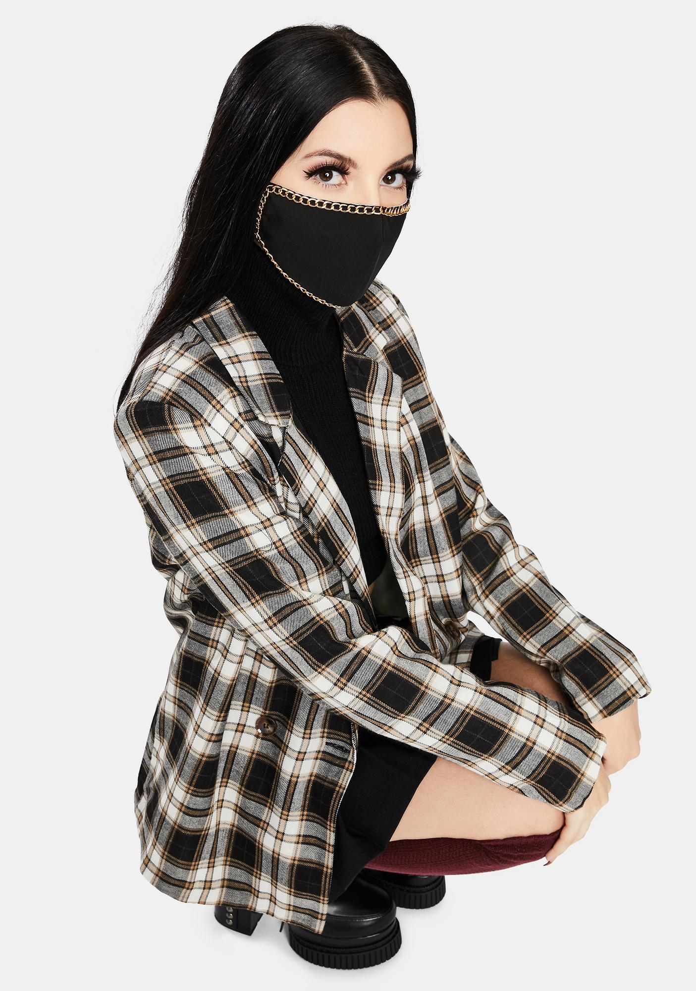 Get Outta Here Chain Trim Face Mask