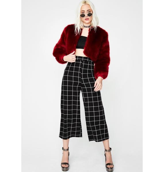 Wine Back On The Prowl Cropped Jacket