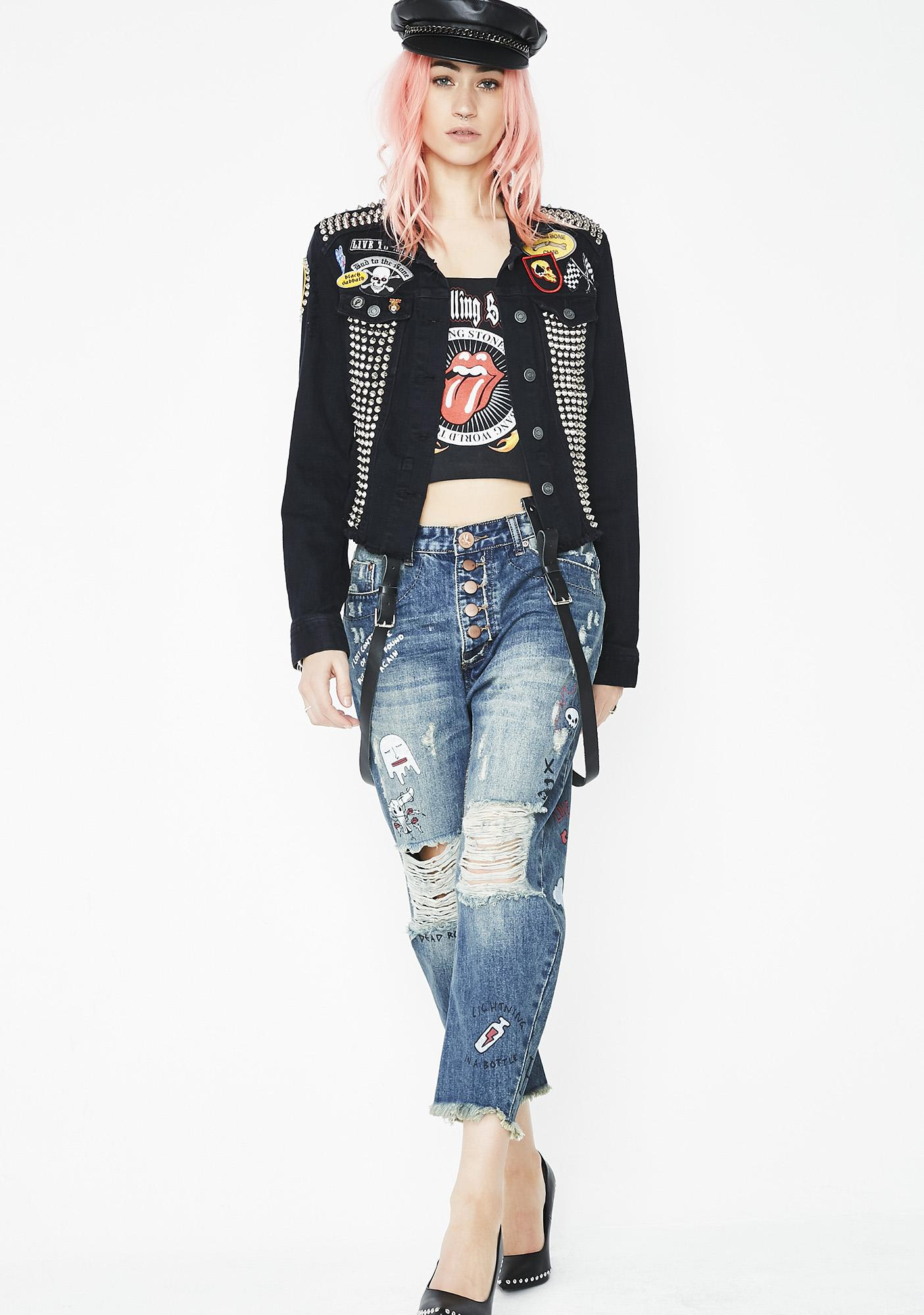 Hazmat Design Cat Power Denim Jacket