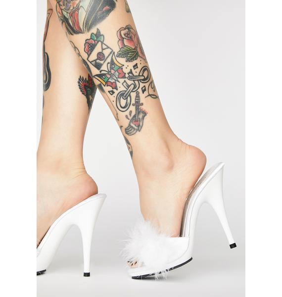 Fabulicious Prissy Poise Marabou Heels